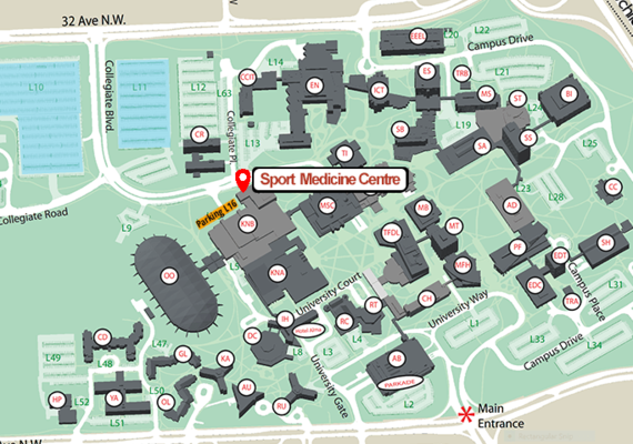 University of Calgary Sport Medicine Centre Location and Parking